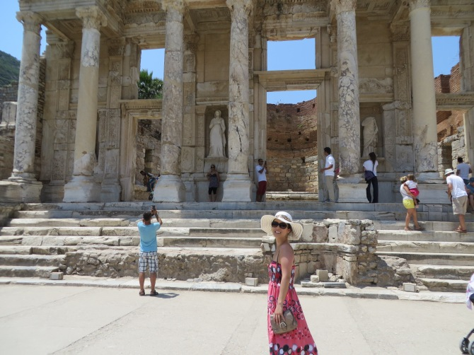 Ephesus (in front of the library)