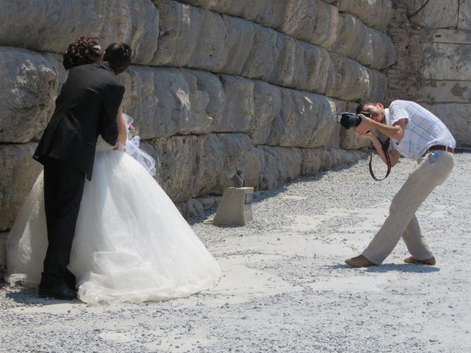 We saw a wedding shoot in Ephesus!