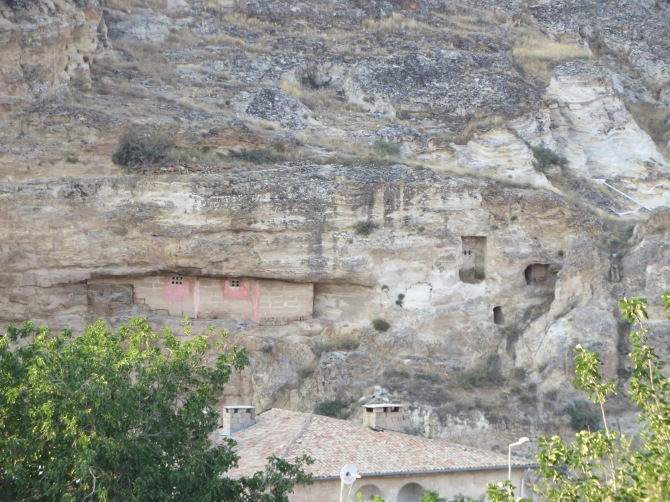 Christians used to hide in these homes inside these stone mountains.