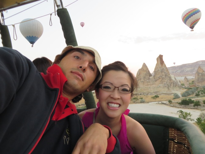 Hot Air balloon ride (this is about 5:30AM!)
