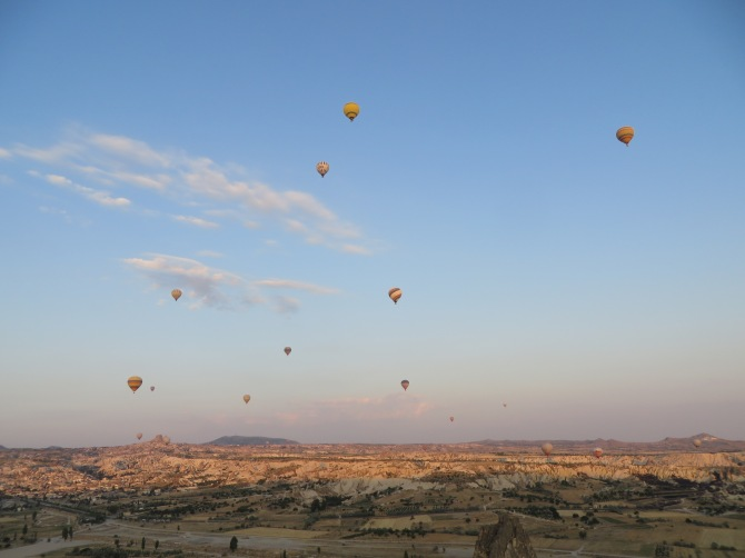 I snapped this photo of other hot air balloons from my own hot air balloon!. Stunning, no?