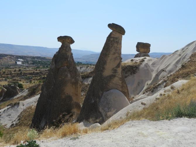 The famous fairy chimneys of Cappadocia