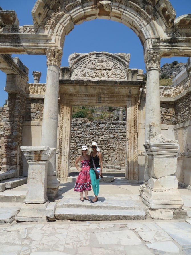 This is a photo of Anita and me in Ephesus...we spent a really fun (and really HOT) summer together. Good luck at GSB!
