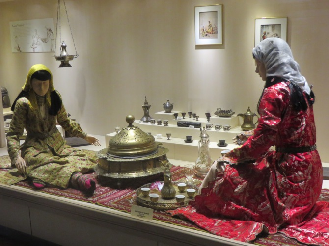 Traditional tea culture display
