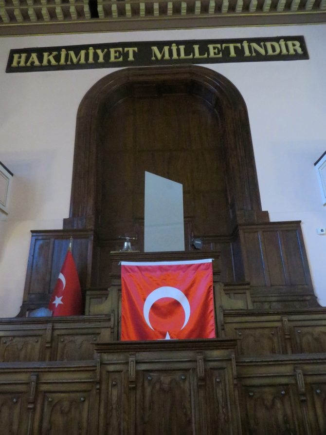 """Sovereignty unconditionally belongs to the Nation""  is the founding principle of the Republic of Turkey. This is the second Parliament Building of the Republic of Turkey"