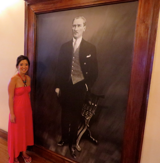 Me and Mustafa Kemal Atatürk!