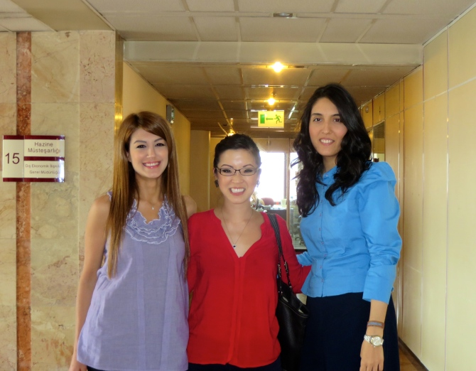 Gözde and Nur from the Foreign Economic Relations team at the Ministry of Treasury. Thank you ladies for a great summer!
