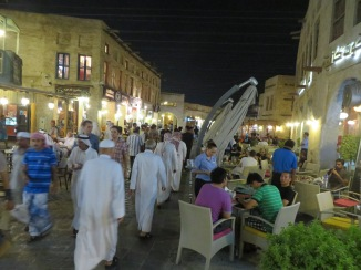 One of the shisha bars at the souq
