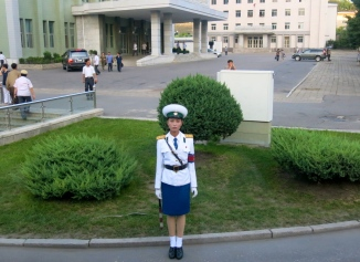 A traffic controller in Pyongyang