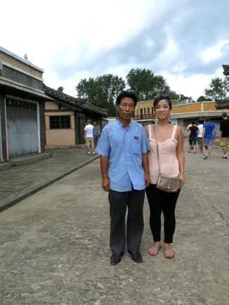 Me and an employee at the Pyongyang movie studio. He has worked here for 40 years.