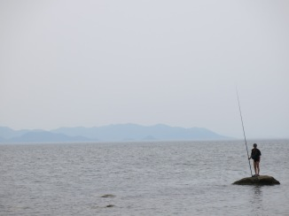 Fisherman in Wonsan, North Korea