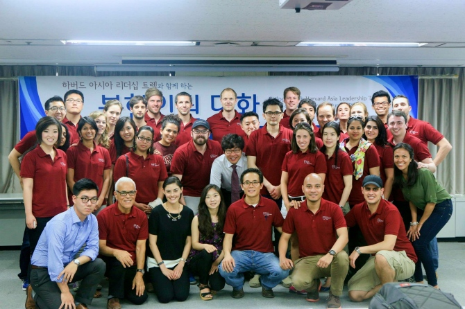 Photo  of our group and members of the Citizens' Alliance of North Korean Human Rights