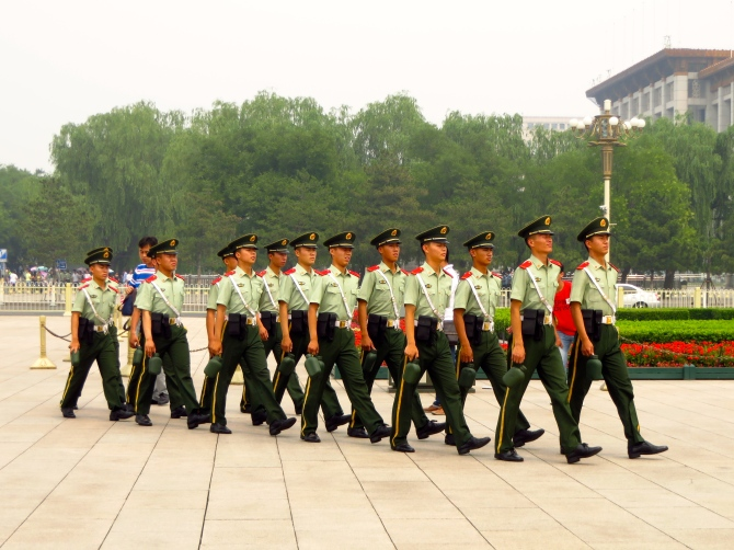 Chinese Military in Tianamen Square